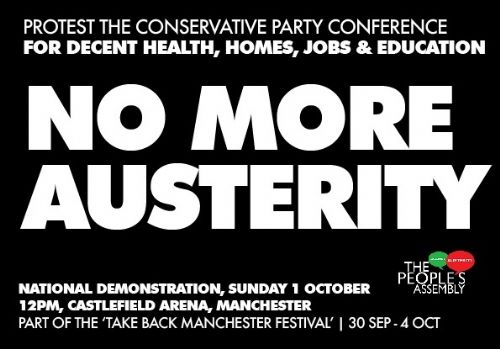Click to view The People's Assembly Protest the Tory Party Conference Manchester 2017